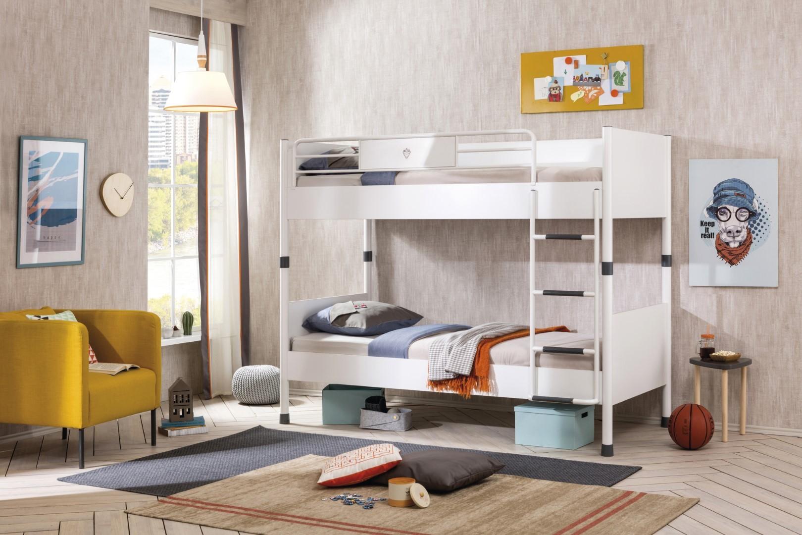 Slaapkamer Ideeen Hoogslaper : Steigerhout slaapkamer koele zon steigerhout meubels hoogslaper