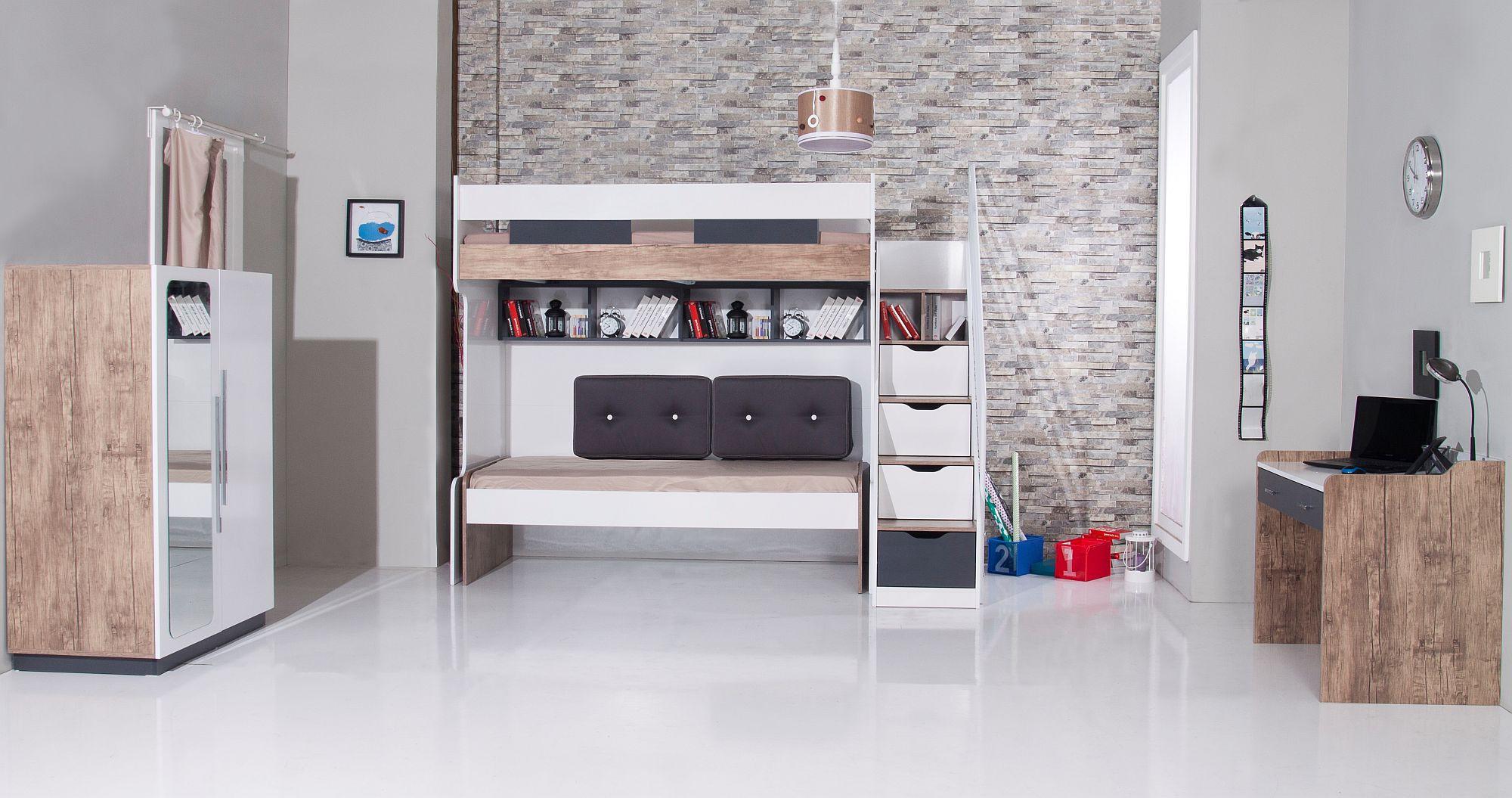 Ideeen Kleine Kinderkamer.Compact Hoogslaper Bed Bureau Bedlade Specialist In
