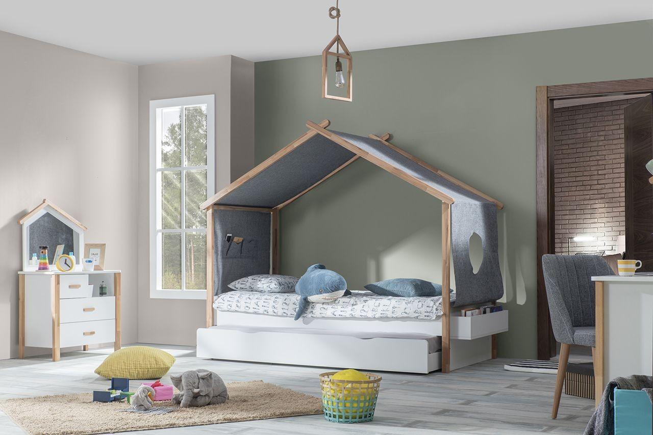Kinderbed Met Huisje.Oslo Bedhuisje Wit Kinderbed Scandinavische Kinderkamer 200 X 90 Cm