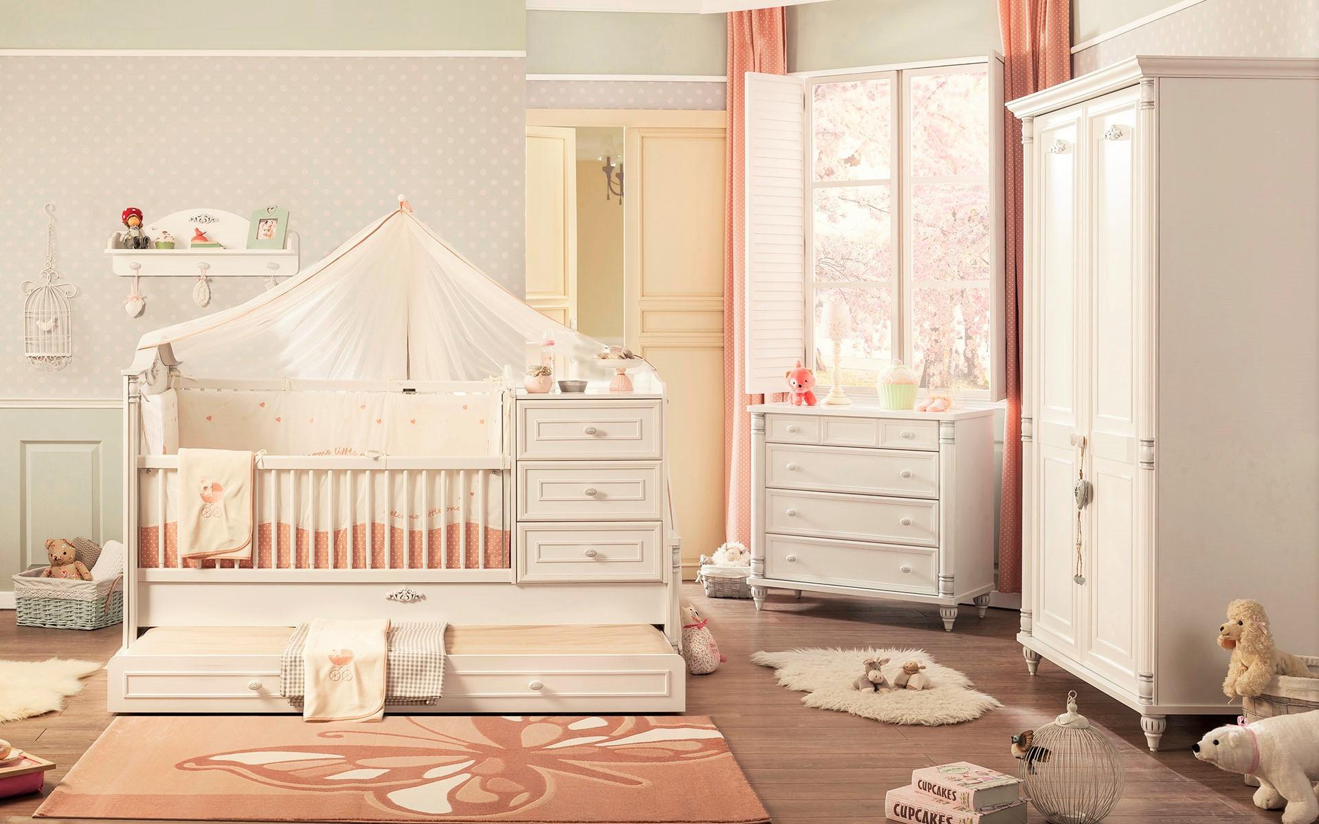 Babybed Met Kast.Romantic Babybed Ledikant Meegroeibed 4 In 1 Specialist In