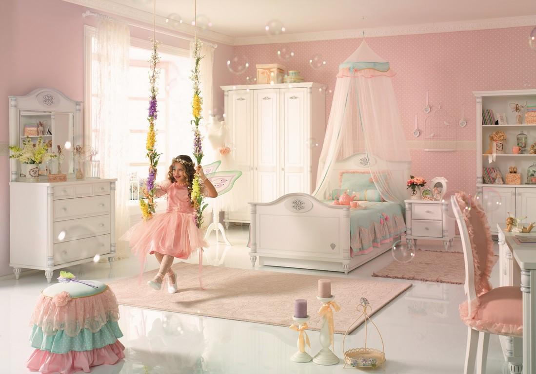 Romantic meisjes kinderstoel stoel specialist in kinderkamers en