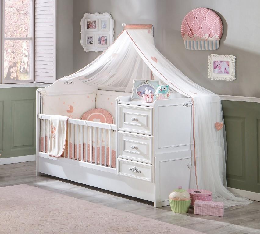 Babybed Met Kast.Romantic Kinderbed Meegroeibed Babykamer 4 In 1 Specialist In
