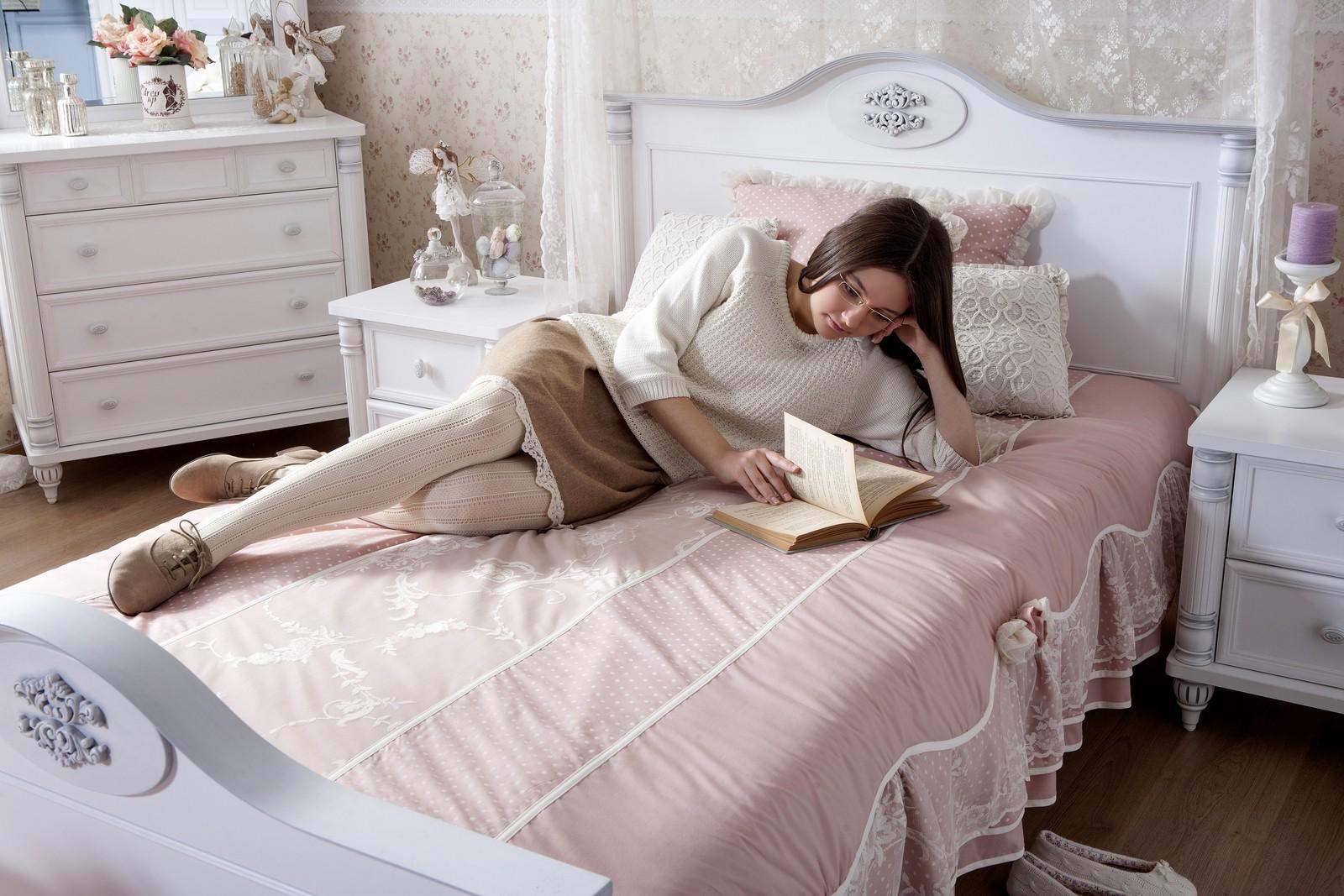 Romantic twijfelaar meisjes bed 200 x 140 Specialist in kinderkamers ...