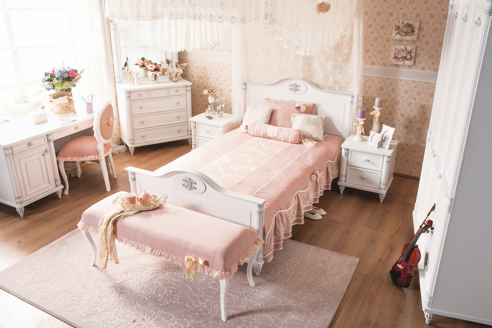 Romantic twijfelaar meisjes bed 200 x 120 specialist in kinderkamers