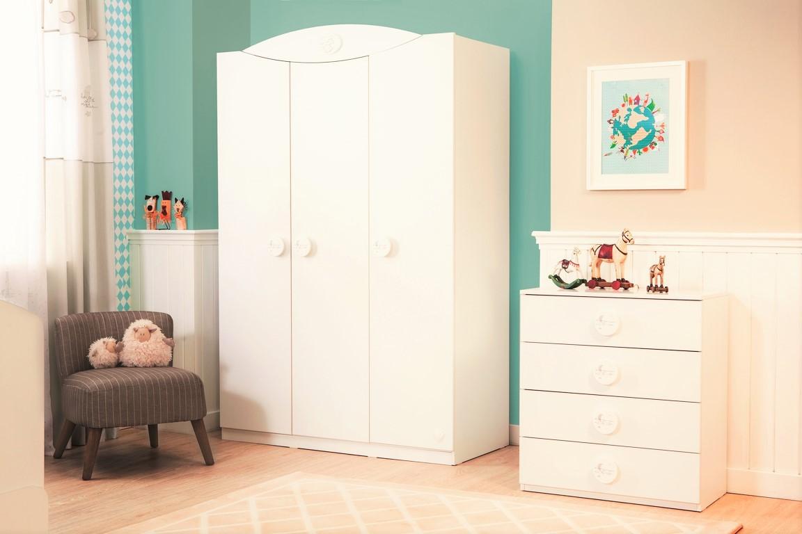 Sachsa baby kledingkast 3 deurs babykamer Specialist in kinderkamers ...