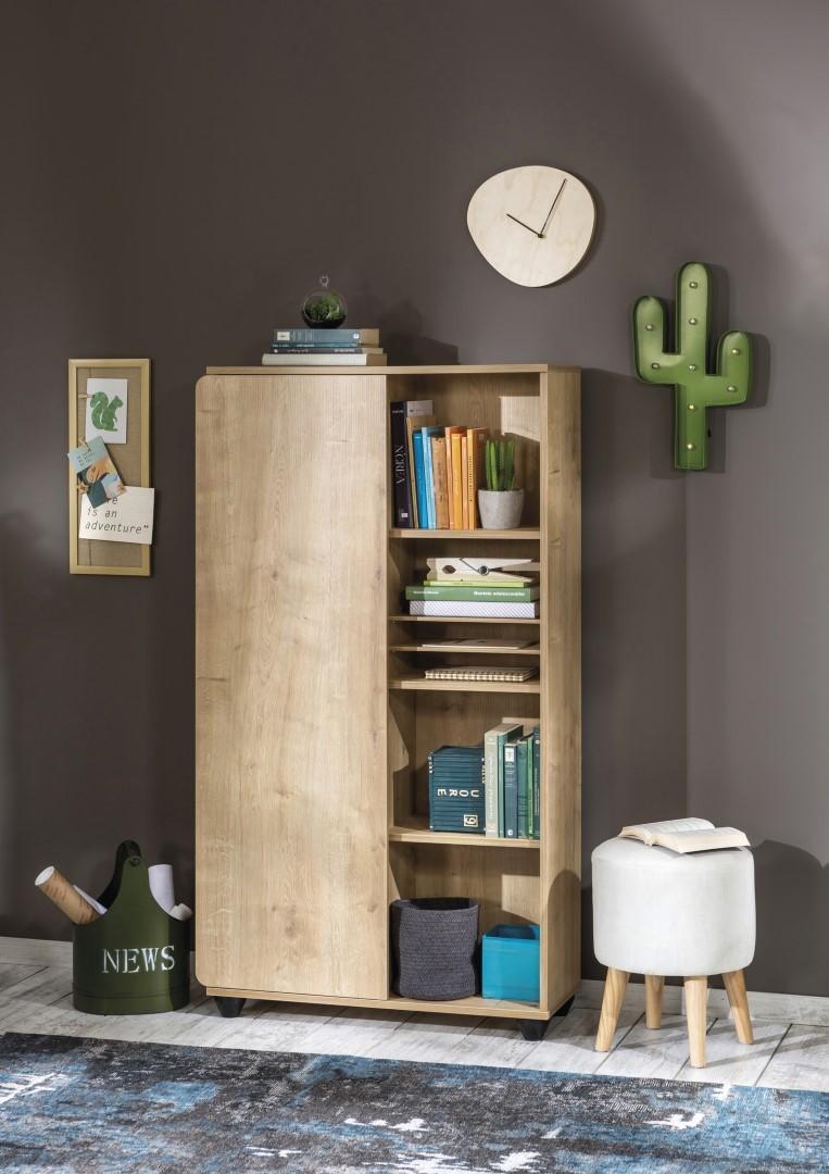 scandinavische slaapkamer stockholm compact kast boekenkast houtlook kinderkast kast tienerkamer