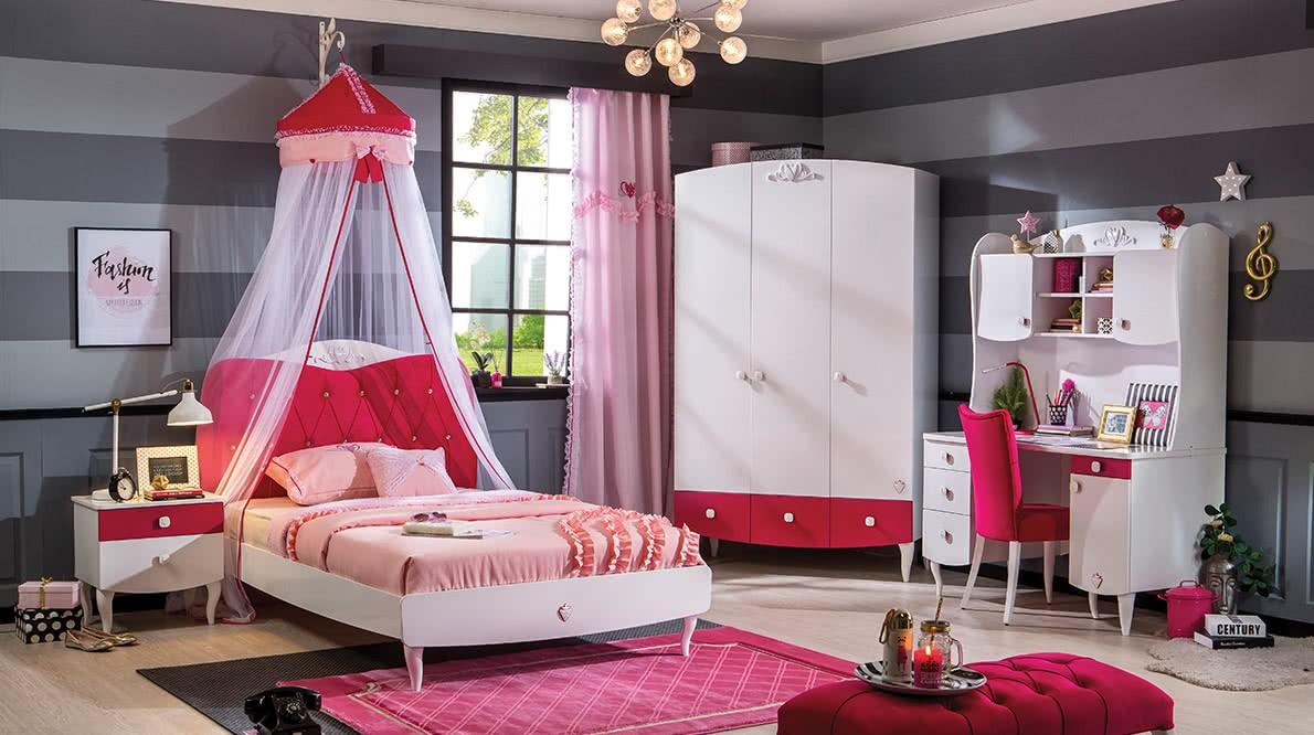 Gordijnen Babykamer Roze : Roze gordijn meisjeskamer kinderkamer sweety specialist in