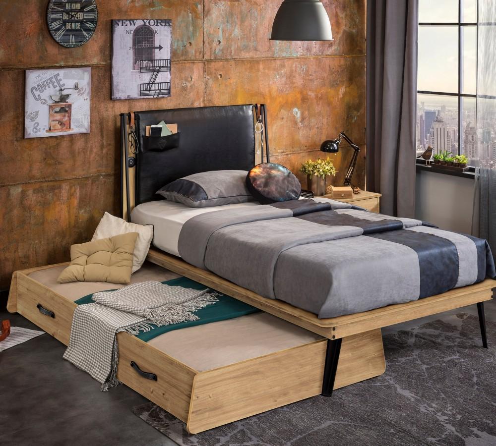 Stoere Jongens Bed.Timber Industrieel Tienerbed 200 X 100 Cm Specialist In