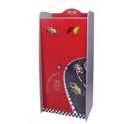 V power kinderkledingkast 2-deurs | rood