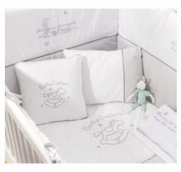 Sachsa Cotton kussenset ledikant babybed 115 x 75 cm