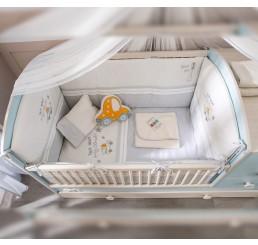 Babykamer Blauw kussenset ledikant babybed 115 x 75 cm