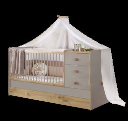 Milaan babykamer babybed ledikant meegroeibed | 4 in 1