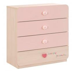 Babykamer roze commode kinderladekast meisjes