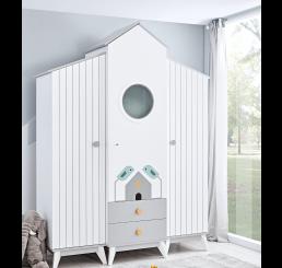 Birdy 3-deurs kledingkast babykamer peuterkamer