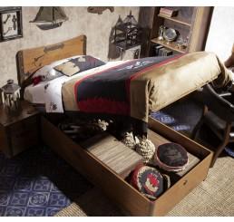 Black Pirate opbergbed kinderbed piratenkamer 190 x 90 cm