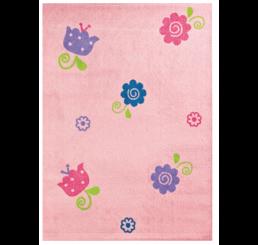 Bloem tapijt vloerkleed meisjeskamer kinderkamer