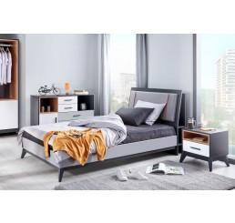 Boston modern bed twijfelaar tienerkamer 200 x 120 cm