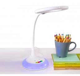Bureaulamp wit met kleuren en dimbaar