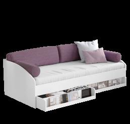 California bedbank wit met kussenset 200 x 90 cm