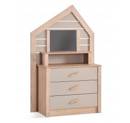 Cento commode ladekast huisje met spiegel kinderkamer