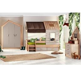 Cento | bedhuisje - 3 deurs kledingkast - boekenkast
