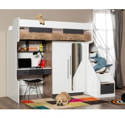 Compact | hoogslaper - 2 deurskast - bureau