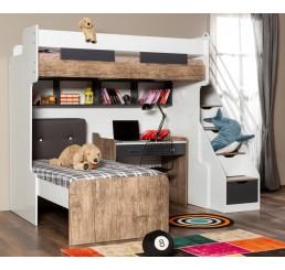 Compact | hoogslaper - bed - bureau - bedlade