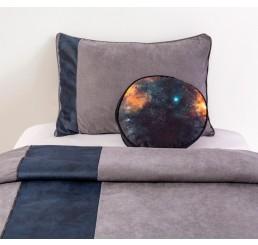 Dark Metal bedsprei + kussenset (235 x 160 cm)