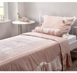 Romantic bedsprei + kussenset (210 x 220 cm)