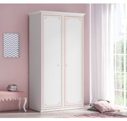 Emily Pink 2-deurs kledingkast meisjeskamer