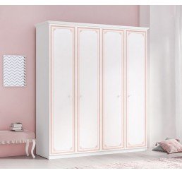 Emily Pink 4-deurs kledingkast meisjeskamer