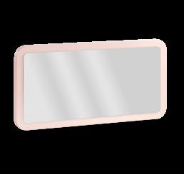 Femi roze lichtroze spiegel afgeronde hoeken babykamer