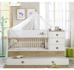 Jamie babykamer babybed ledikant meegroeibed | 4 in 1
