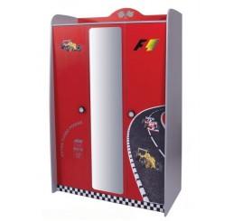 V power kinderkledingkast 3-deurs | rood
