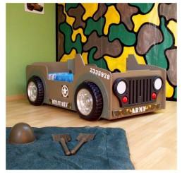 Leger Jeep autobed jongenskamer