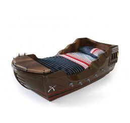 Piraat schipbed voor de jongenskamer | bruin
