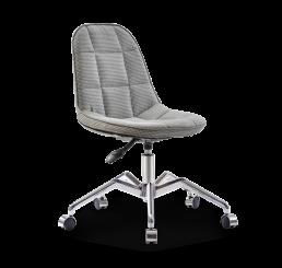Moderne stoel bureaustoel grijs tienerkamer