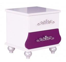 Prinses Paars kindernachtkastje meisjeskamer