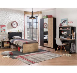 New York tienerkamer | 3-delige set 200x100