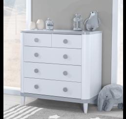 Novi commode wit grijs babykamer