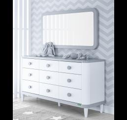Novi commode wit grijs babykamer groot