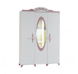 Pretty kinderkledingkast 3-deurs voor de kinderkamer meisjeskamer