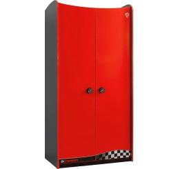 Champion Racer 2-deurs kledingkast rood