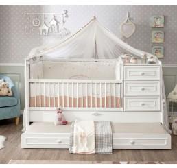 Romantic babybed ledikant meegroeibed | 4 in 1