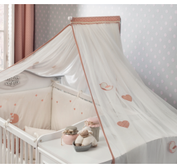 Romantic babykamer muskietennet klamboe