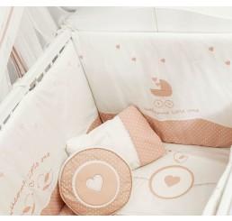 Romantic kussenset ledikant babybed babykamer 130 x 80 cm