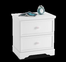 Rustic nachtkastje wit meisjeskamer