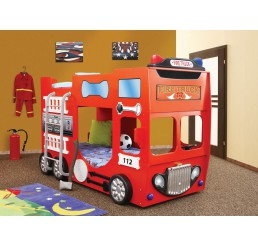 Brandweerbed / stapelbed brandweer | rood jongensbed