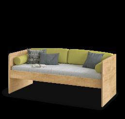 Stockholm Studio bedbank houtlook 200 x 90 cm