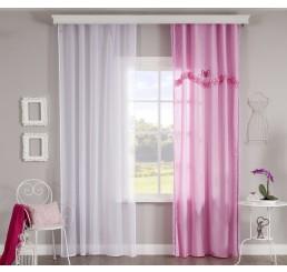 Rosa gordijn roze meisjeskamer (260 x 140 cm)